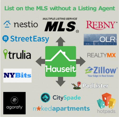 Hauseit offers a Flat Fee MLS listing which places your home on the MLS and a dozen other real estate websites at the same time for no commission