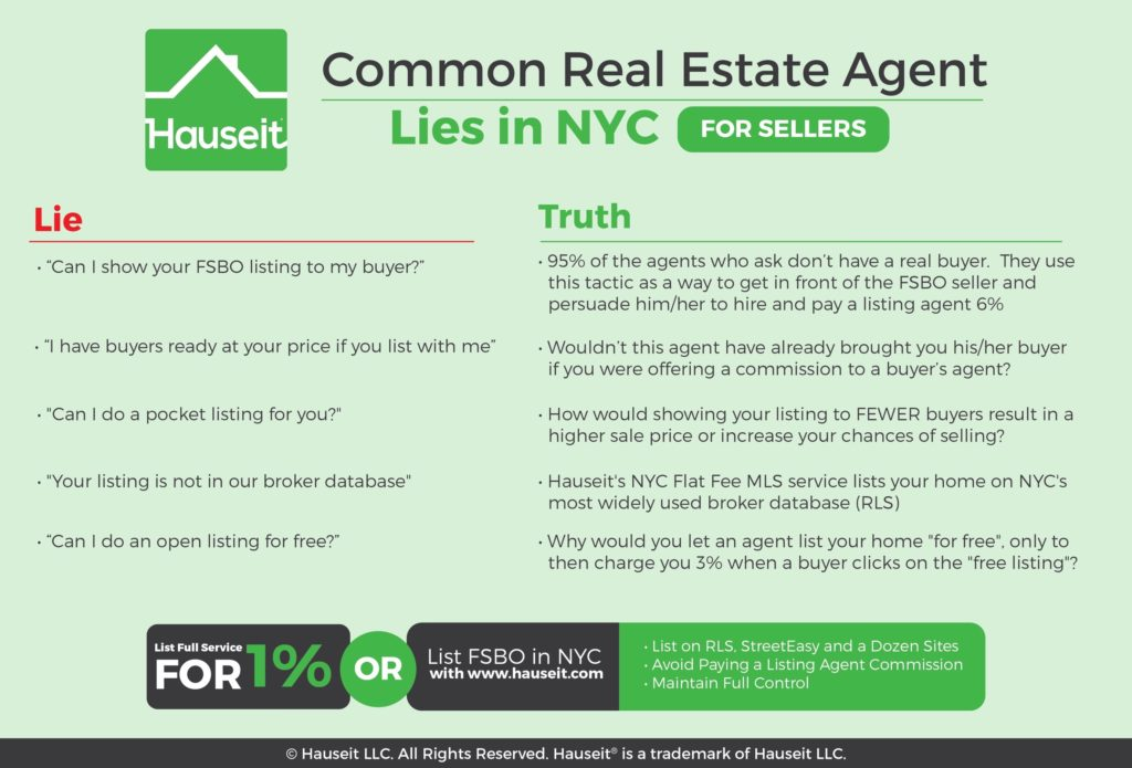 Hauseit explains the most common real estate listing agent lies in NYC.