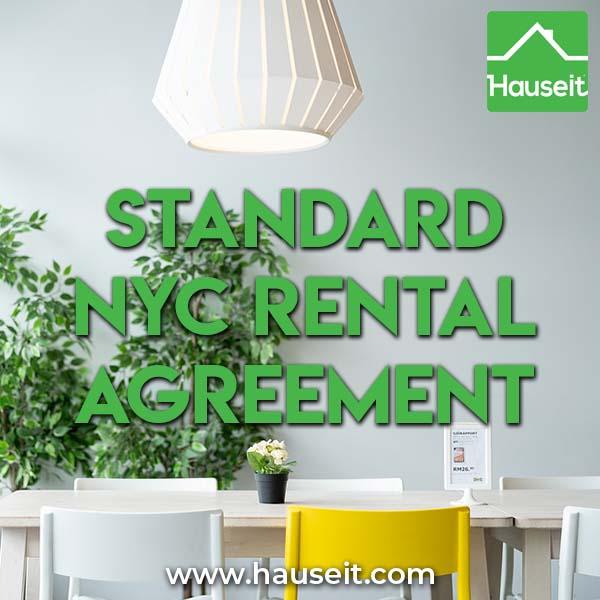 Standard NYC Rental Agreement