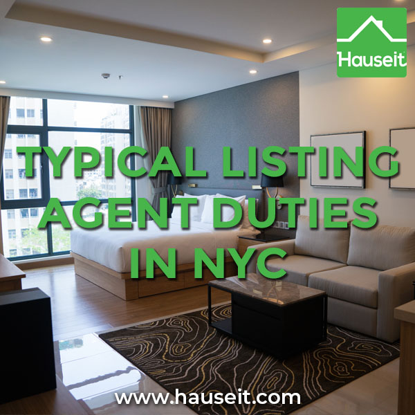 What are Listing Agent Duties in NYC