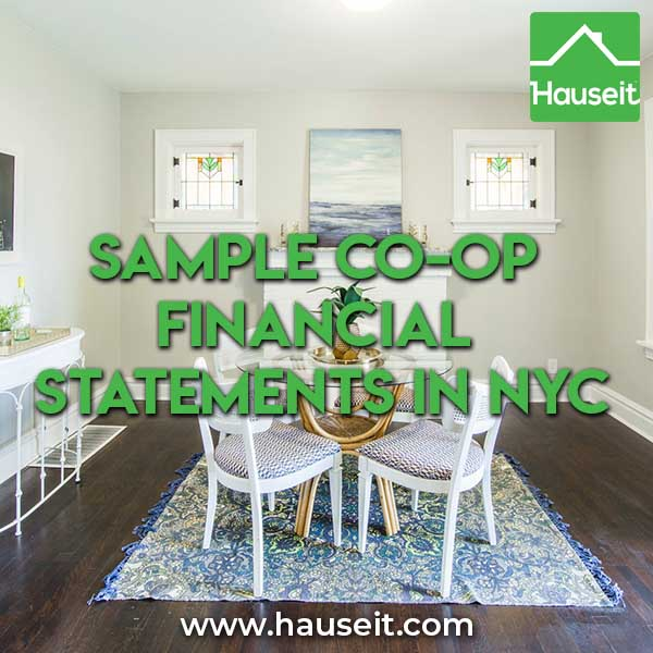 Sample Co-op Financial Statements in NYC