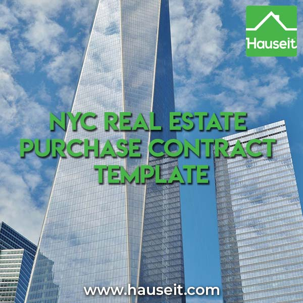 What does a NYC real estate purchase contract template look like? Do you need a lawyer to review and negotiate the purchase agreement for you?