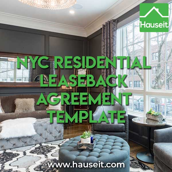 NYC Residential Leaseback Agreement Template