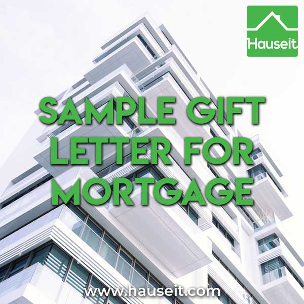 What is a Gift Letter Sample Gift Letter for Mortgage – Gift Letter