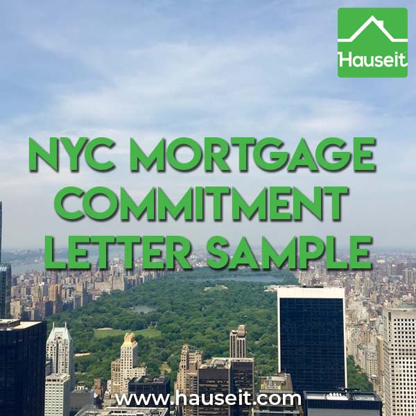 NYC Mortgage Commitment Letter Sample