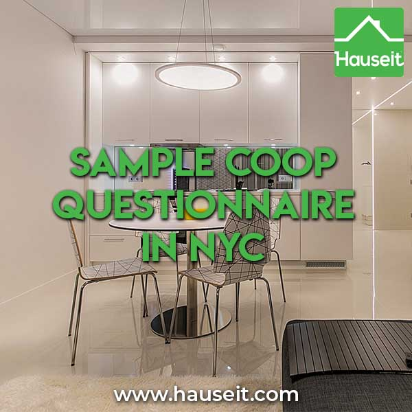 Sample Coop Questionnaire in NYC