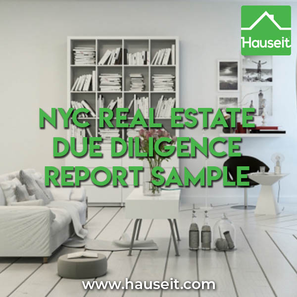 NYC Real Estate Due Diligence Report Sample