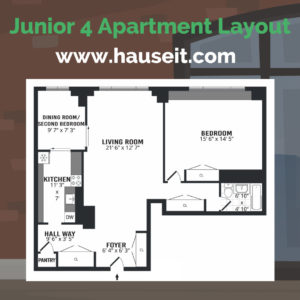 Junior 4 apartments in NYC are highly controversial. A Junior Four apartment in NYC is a one bedroom apartment with extra alcove space that can be used as a second bedroom, sleeping area, office or dining room. Learn the difference between Junior 4 and 2 bedroom apartments in NYC.