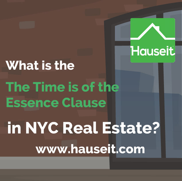 What is time is of the essence as it relates to real estate transactions? What happens in practice for re-sales vs new construction deals in NYC? We'll explain what buyers and sellers need to know about the time is of the essence clause and show you a sample sponsor closing notice with time is of the essence language.