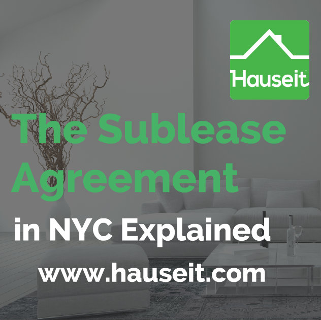 The Sublease Agreement in NYC Explained | Hauseit New York City