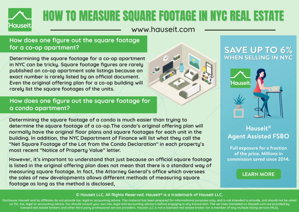 What exactly is square footage? How is it measured and how do you find the actual square footage of a co-op or condo apartment in NYC? Are new development square feet measurements always inflated?