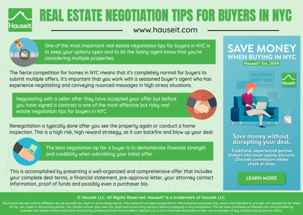 Read Hauseit's Top Real Estate Negotiation Tips for Buyers in NYC