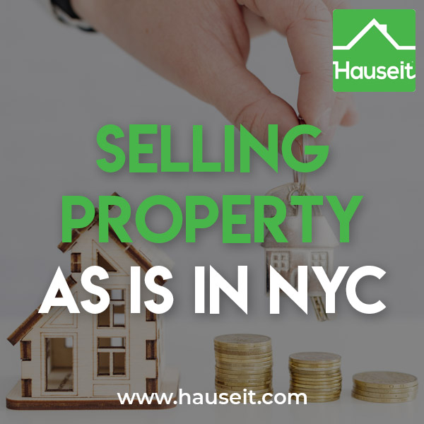 "Selling property ""as is"" means the property will be delivered to the buyer in the condition as seen, technically as of the date of the purchase contract. This means the seller won't be making any custom changes or repairs to the property before closing on behalf of the buyer."