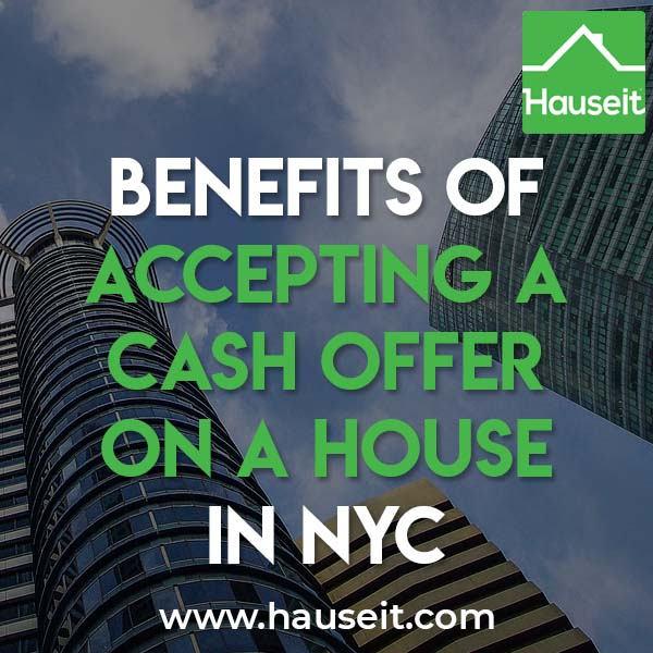 The benefits of accepting a cash offer on a house vs an offer that is reliant on securing a mortgage are speed and certainty of execution. All cash offers are much quicker to close, and you won't have to worry about the financing falling through.