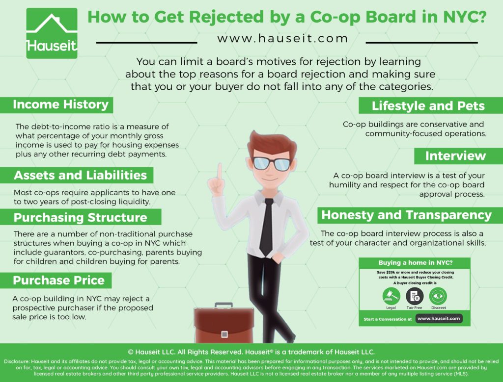 You can limit a board's motives for rejection by learning about the top reasons for a board rejection and making sure that you or your buyer do not fall into any of the categories.