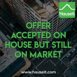 It's customary for sellers to continue showing their property and even hosting open houses after they've accepted an offer.