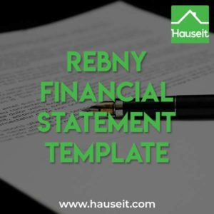 Download a fillable REBNY Financial Statement Template in Excel or PDF. The REBNY Financial Statement is required when submitting an offer on a co-op (coop) in NYC.