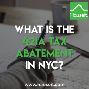 The original 421a tax abatement program in NYC began in 1971 and is named after section 421-a of the New York Property Tax Law.