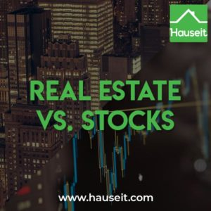 The advantages of investing in NYC real estate vs. stocks include tax benefits, appreciation, diversification, inexpensive leverage and the fact that you have control.
