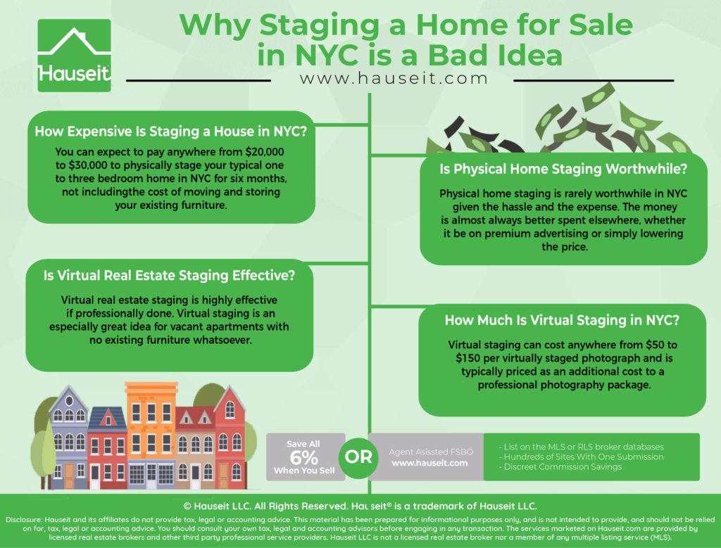 One of the first questions most prospective home sellers have is whether it makes sense to pay for home staging. Does it make sense to pay the equivalent of a small broker fee just to rent some fancy furniture?