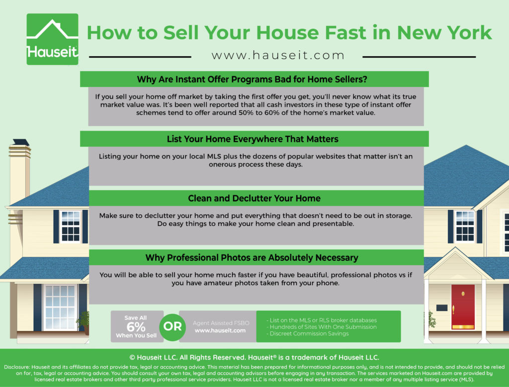 You can sell your house fast without offering it for pennies on the dollar to an instant offer program or investor by following a few simple rules.