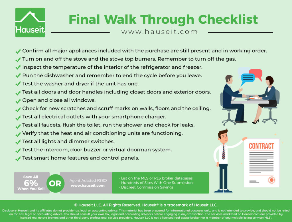 The final walk through is a critical last step before closing. We'll explain what the real purpose of a final walkthrough is and provide you with a handy final walk through checklist you can use.