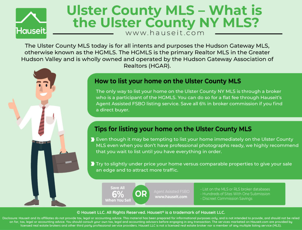 The Ulster County MLS today is for all intents and purposes the Hudson Gateway MLS, otherwise known as the HGMLS. The HGMLS is the primary Realtor MLS in the Greater Hudson Valley and is wholly owned and operated by the Hudson Gateway Association of Realtors (HGAR).