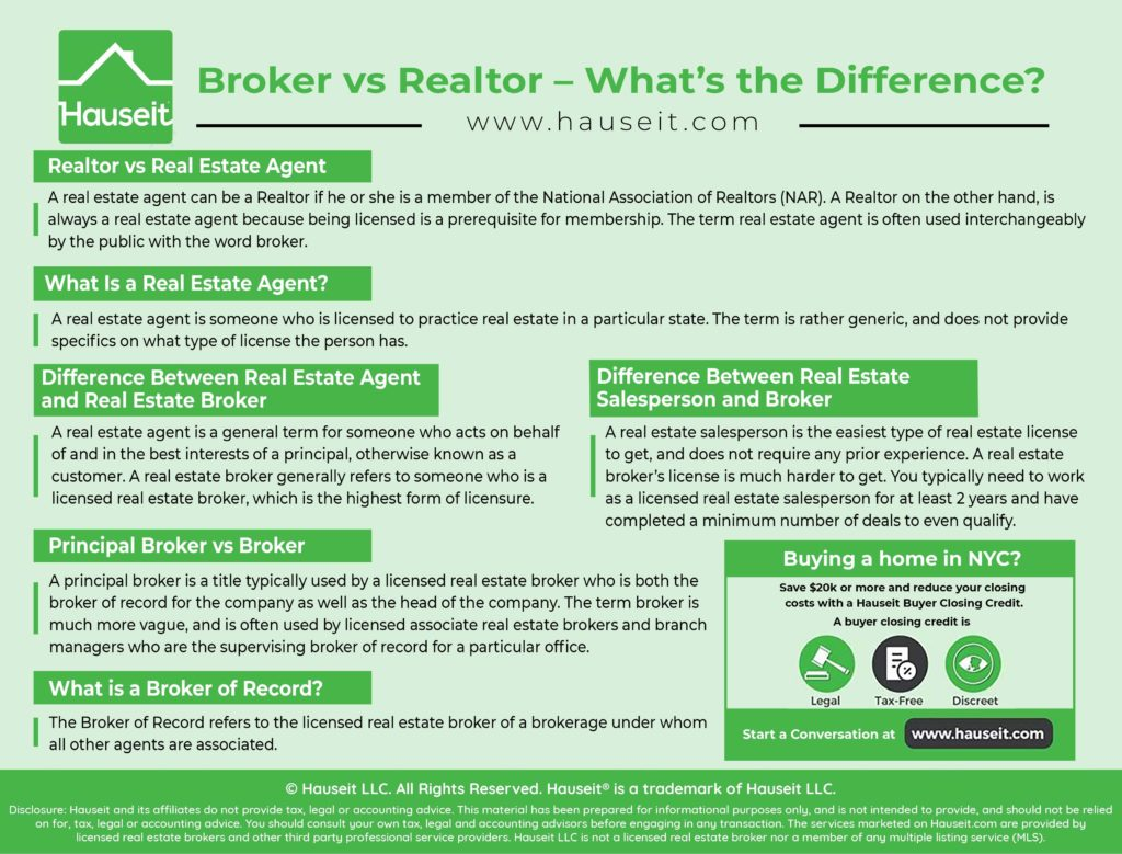 A real estate agent can be a Realtor if he or she is a member of the National Association of Realtors (NAR). A Realtor on the other hand, is always a real estate agent because being licensed is a prerequisite for membership.