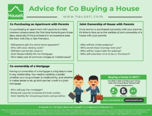 Gift letters necessary for both mortgage and co op. Co borrowing means reduced future borrowing capacity for both. Advice for co buying a house with parents.