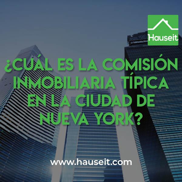 La comisión inmobiliaria típica en la ciudad de Nueva York se encuentra entre el 5% y el 6% del precio de venta. Conoce cómo puedes reducirlos cuando vendes una propiedad en NYC.