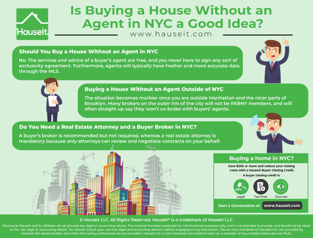 The services and advice of a buyer's agent are free, and you never have to sign any sort of exclusivity agreement. Furthermore, agents will typically have fresher and more accurate data through the MLS.