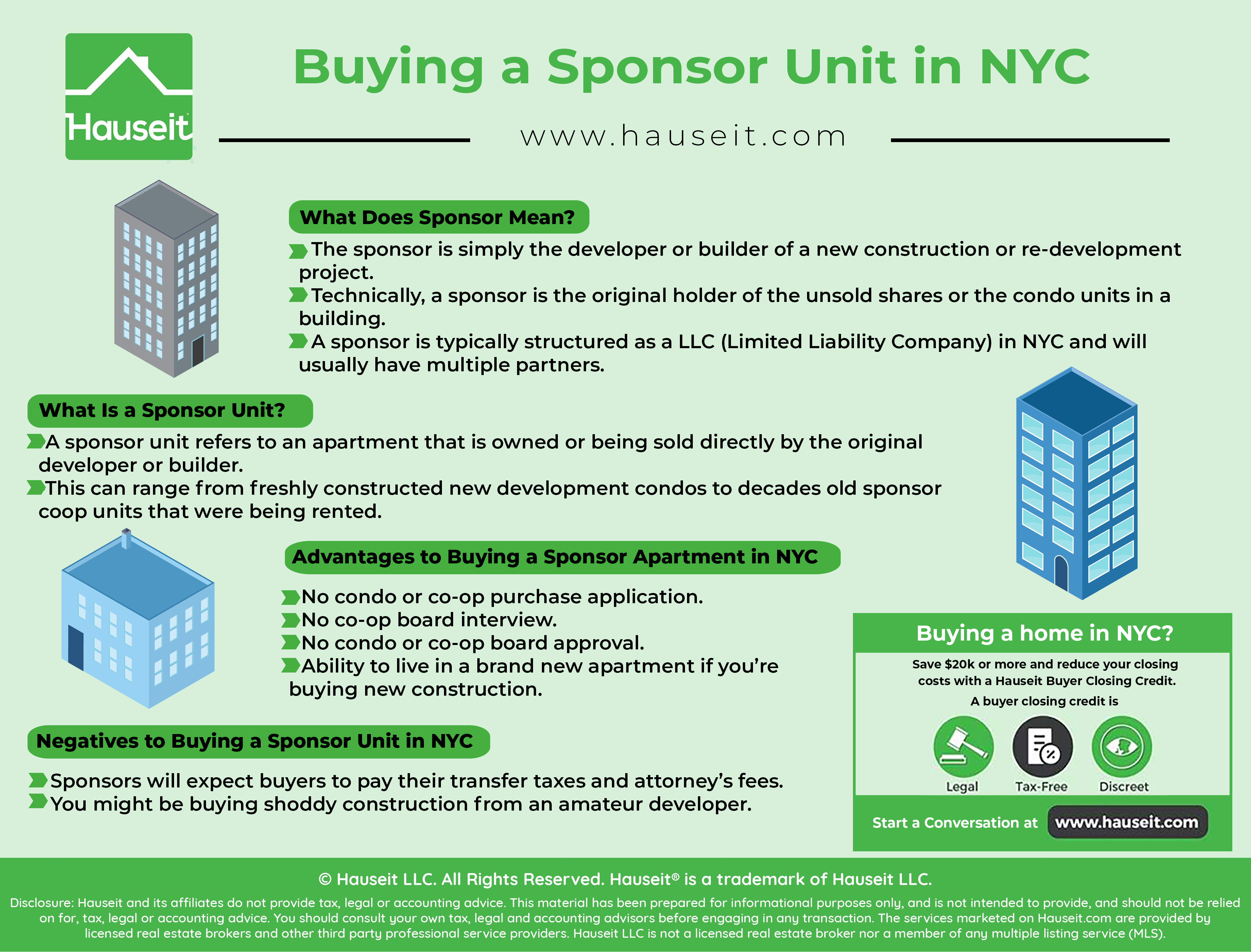 A sponsor unit refers to an apartment that is owned or being sold directly by the original developer or builder.