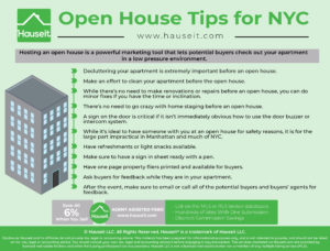 Hosting an open house is a powerful marketing tool that lets potential buyers check out your apartment in a low pressure environment.