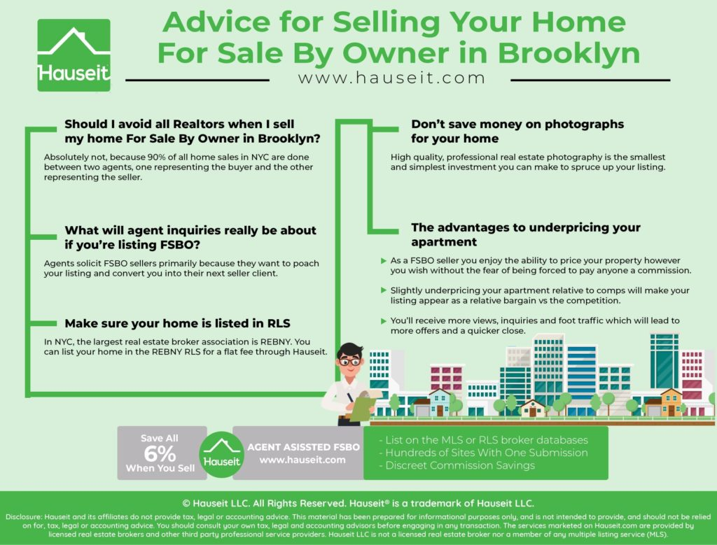 Advice to For Sale By Owner in Brooklyn Home Sellers | Hauseit NYC