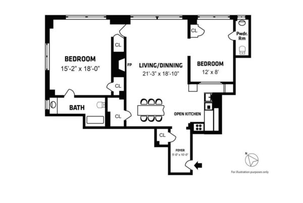 A sample floorplan drawn for a Hauseit seller in NYC.