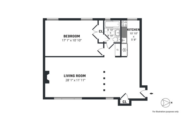 Sample floorplan done by the Hauseit team in NYC.