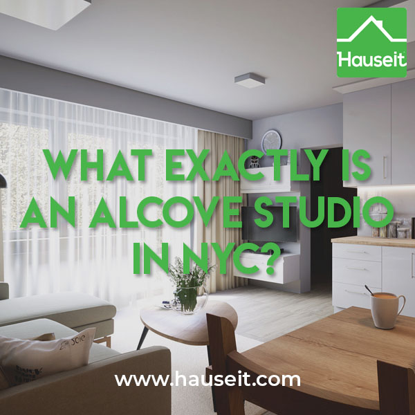 "An alcove studio is a studio apartment with a small, separate sleeping area, or ""alcove,"" that opens up into the main room, typically forming an ""L"" shape."