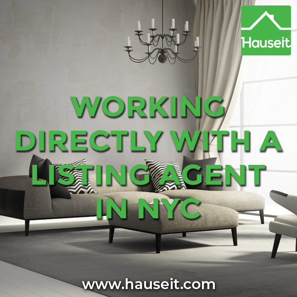 Working directly with a listing agent in NYC is rare, as 75% of buyers are represented by buyer agents in NYC. We explain the pros and cons of going direct.