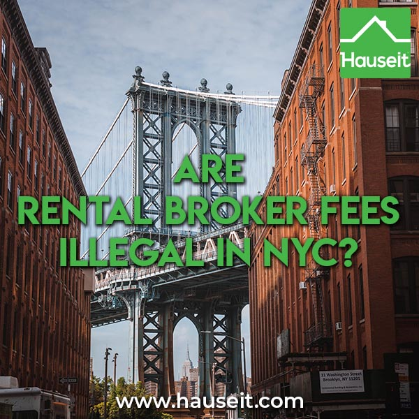 It is illegal for a tenant to be charged a rental broker fee in NYC by a landlord's agent as of 1/31/20, but this law is currently undergoing a court challenge.