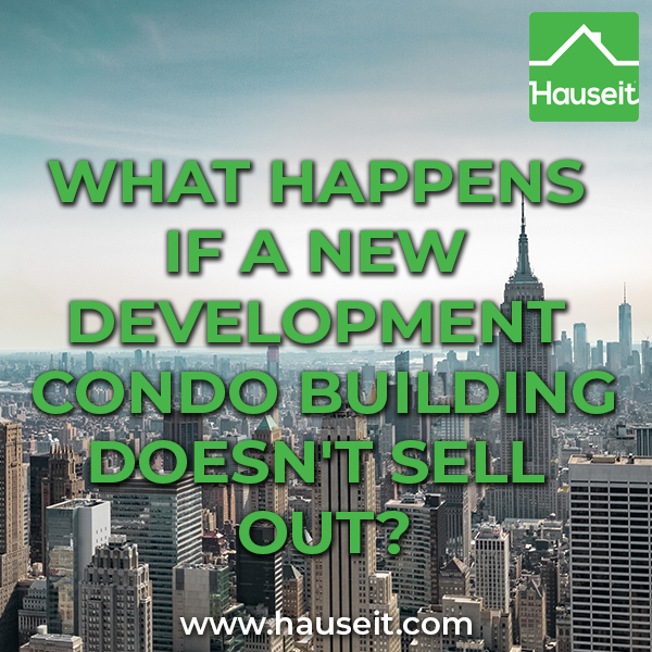 The risk of buying into a new development condo building with unsold units is that your apartment's value may decline. You may also face higher common charges.
