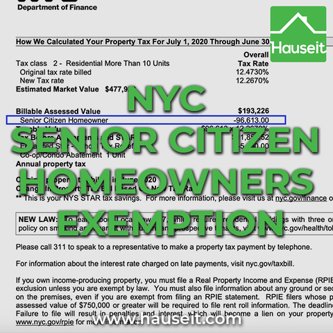 The Senior Citizen Homeowners' Exemption (SCHE) allows seniors with an annual income below $58,399 to reduce their property taxes in NYC.