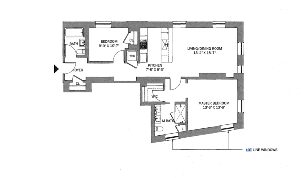 Floor Plan with Lot Line Windows in NYC
