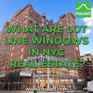 A lot line window in NYC shares a boundary with a neighboring lot. Light, air and views from lot-line windows are not protected and can be lost at any time.