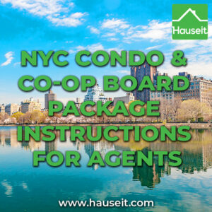 Once your buyer signs a contract on a condo or co-op in NYC, it's important to set expectations on both the process and timing for preparing the board package.