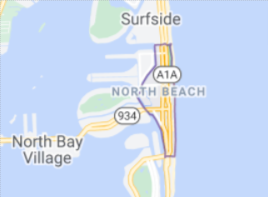 Map showing where the North Beach neighborhood of Miami is located