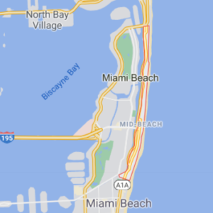Map showing where Mid-Beach is on a map of Miami Beach