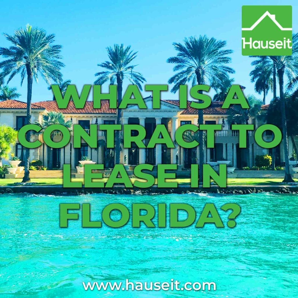 A Contract to Lease in Florida is essentially a contractual offer on a rental listing, whereby the tenant puts down a deposit to reserve it.